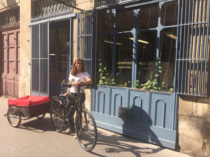 A Lyon, une ostéo à vélo ...