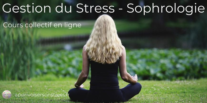 "Bien-être : Cours collectif ""Gestion du Stress - Sophrologie"" en ligne"