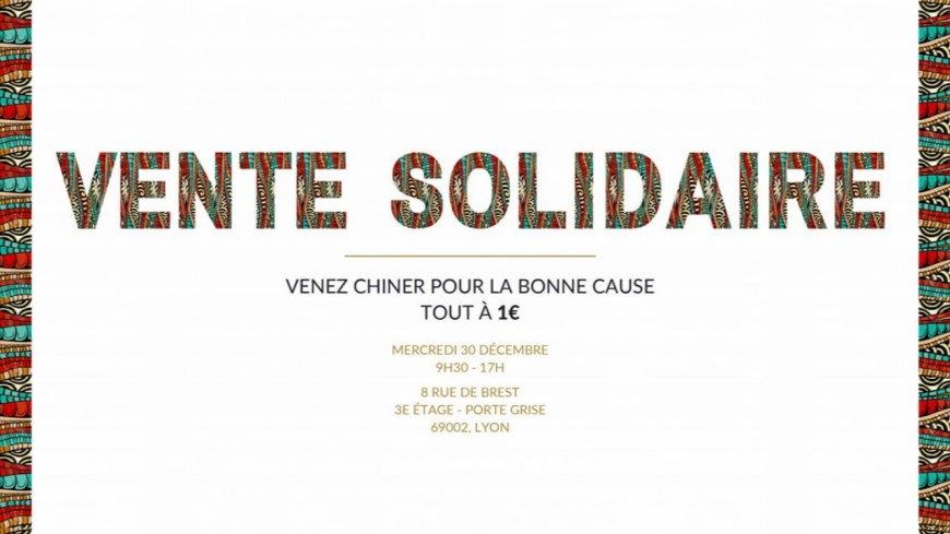 Shopping : Vente solidaire