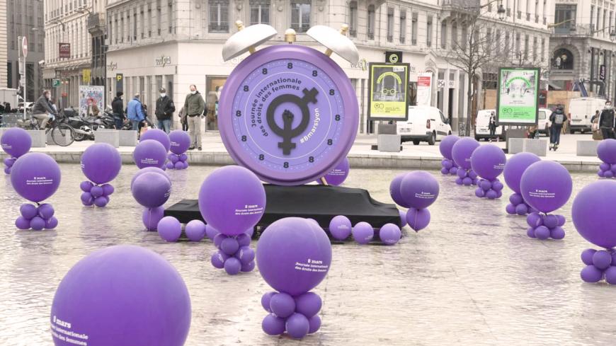 Journée internationale des droits des femmes : l'heure de l'égalité a sonné rue de la République à Lyon
