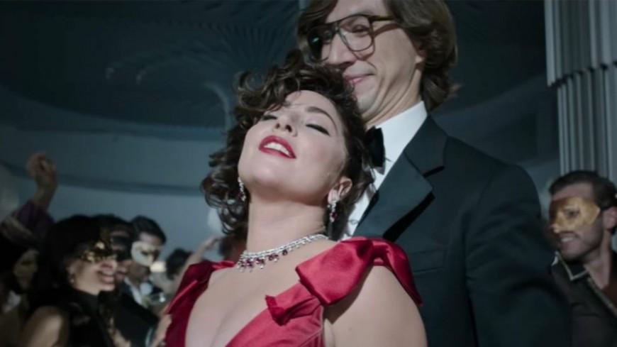 """Découvrez la nouvelle affiche du film """"House of Gucci""""qui rassemble Lady Gaga, Al Pacino et Adam driver !"""