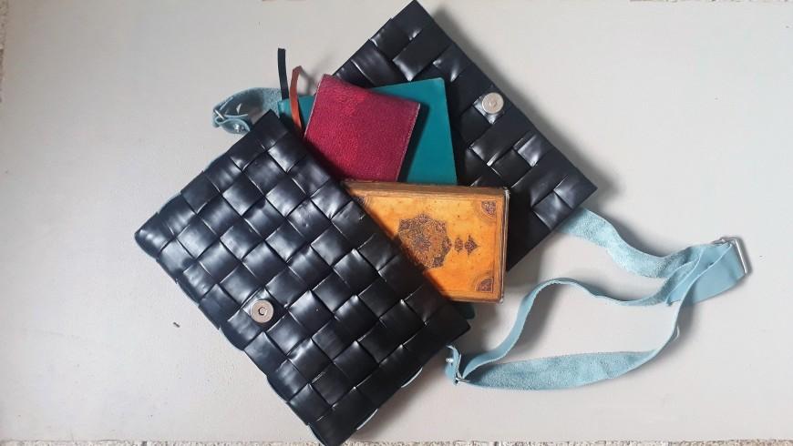 Atelier Upcycling: tissage d'un sac à main
