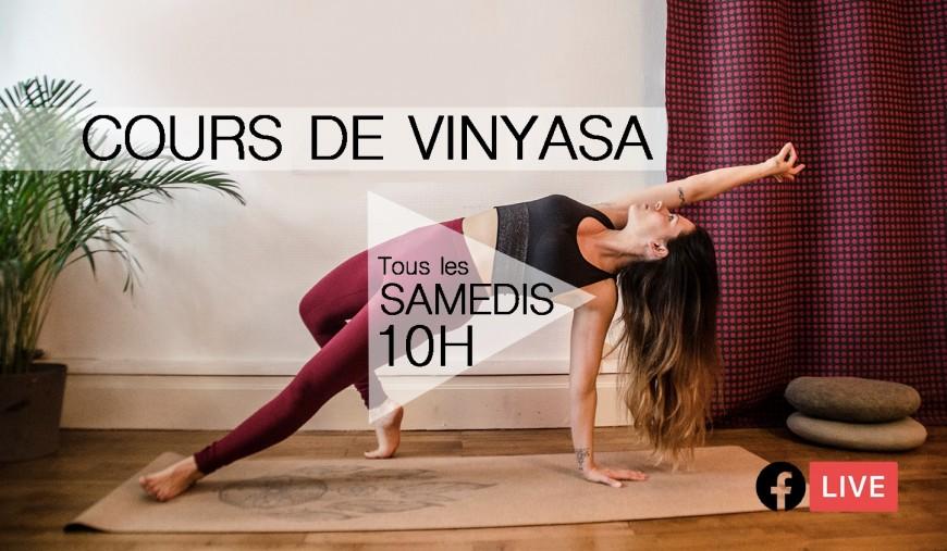 Participez à un cours de de Yoga Vinyasa en live
