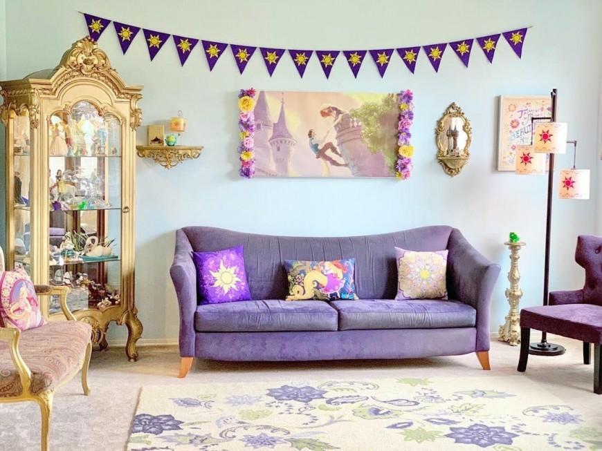 Fan de Disney, elle décore entièrement sa maison avec des objets féériques