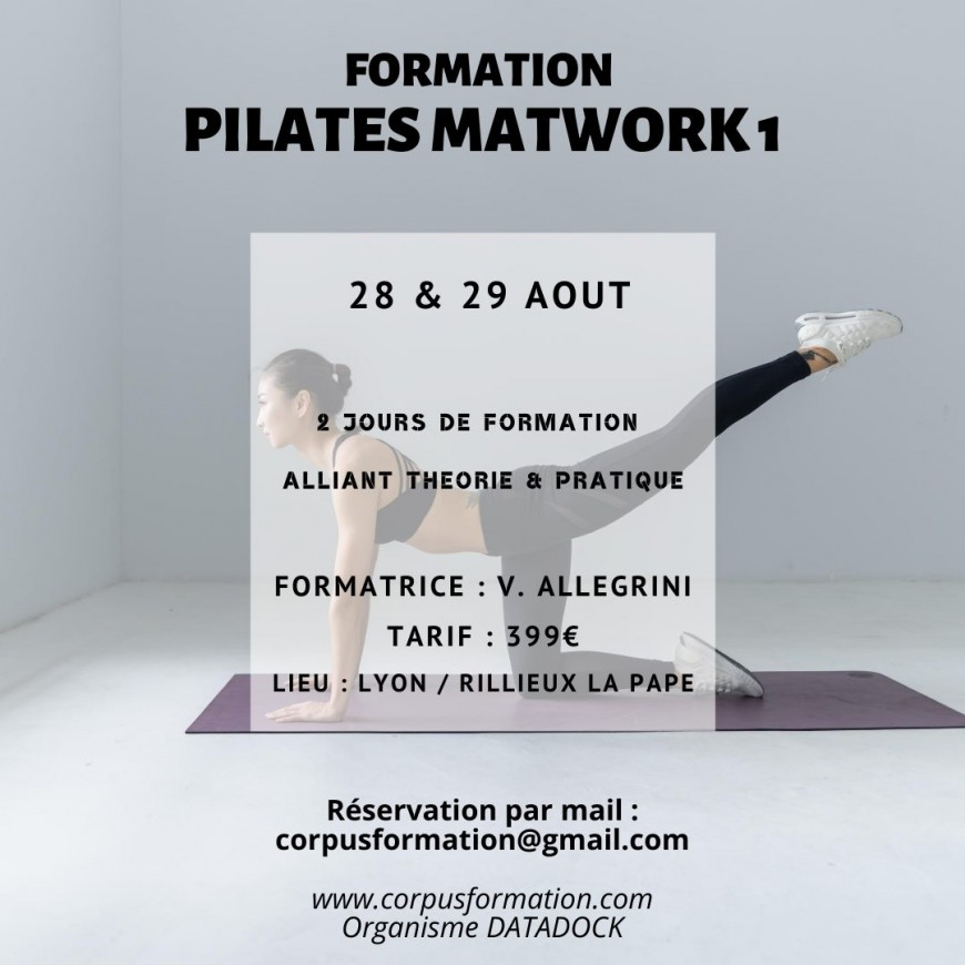 Loisirs : Formation Pilates Matwork 1
