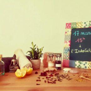 Préparez le printemps avec Les aprem' Zen à l'Indo Café
