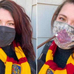Cette femme réalise un masque Harry Potter