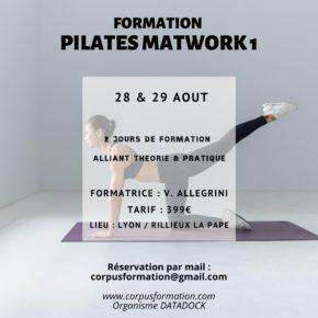 Loisirs : Formation Pilates Matwork 1